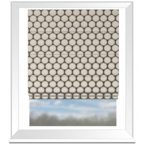 Clarke and Clarke Imperiale Duomo Pebble Roman Blind