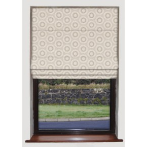 Clarke and Clarke Astrid Ebba Natural Roman Blind