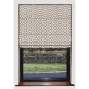 Clarke and Clarke Astrid Ebba Taupe Roman Blind