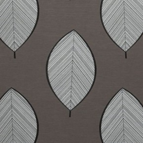 Clarke and Clarke Holland Park Westbourne Charcoal Curtain Fabric