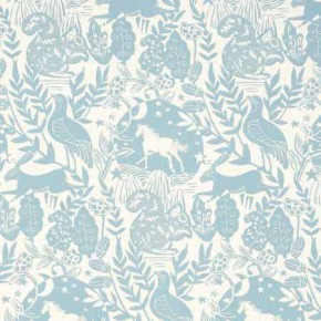 Clarke and Clarke Blighty Westonbirt Blue Curtain Fabric