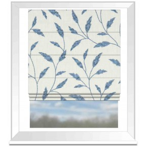Avebury Fairford Denim Roman Blind