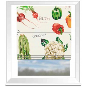 A Village Life  Farmers Market  Cream  Roman Blind
