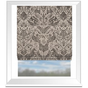 Country Garden Forest Trail Charcoal Roman Blind