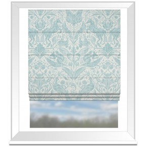 Country Garden Forest Trail Duckegg Roman Blind