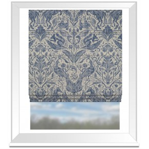 Country Garden Forest Trail Ink Roman Blind