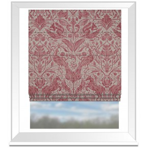 Country Garden Forest Trail Raspberry Roman Blind