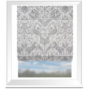 Country Garden Forest Trail Smoke Roman Blind