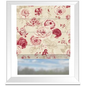 Clarke and Clarke Genevieve Clarke and Clarke Genevieve Raspberry Roman Blind
