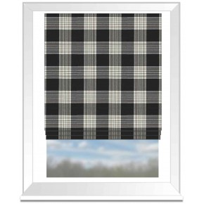 Clarke and Clarke Glenmore Clarke and Clarke Glenmore Charcoal Roman Blind