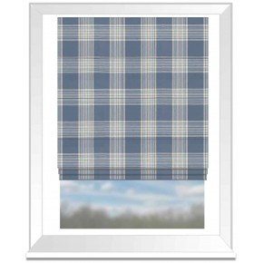 Clarke and Clarke Glenmore Clarke and Clarke Glenmore Denim Roman Blind