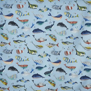 A Prestigious Textiles Beachcomber Whale Watching Pacific Curtain Fabric
