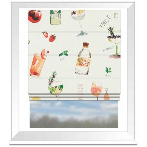 A Village Life  Happy Hour  Cream  Roman Blind