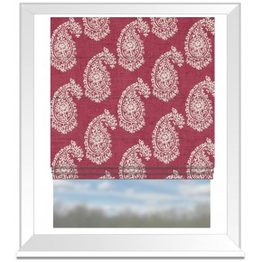 Clarke and Clarke Genevieve Harriet Raspberry Roman Blind