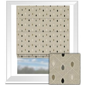 Clarke and Clarke Richmond Healey Charcoal Roman Blind