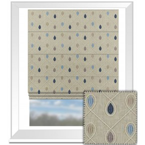 Clarke and Clarke Richmond Healey Denim Roman Blind