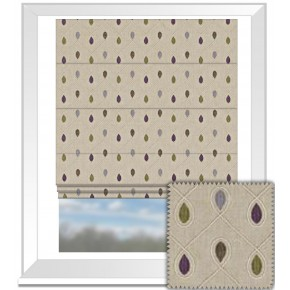 Clarke and Clarke Richmond Healey Heather Roman Blind