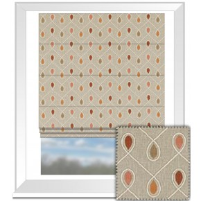 Clarke and Clarke Richmond Healey Spice Roman Blind