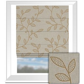 Clarke and Clarke Richmond Hetton Caramel Roman Blind