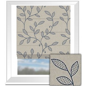 Clarke and Clarke Richmond Hetton Denim Roman Blind