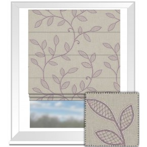 Clarke and Clarke Richmond Hetton Heather Roman Blind
