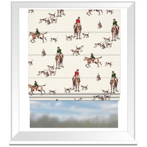 Clarke and Clarke Blighty Horse&Hound Multi Roman Blind