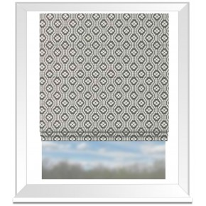 Clarke and Clarke Chateau Hugo Smoke Roman Blind