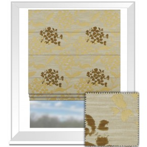 Prestigious Textiles Eden Hydrangea Chartreuse Roman Blind