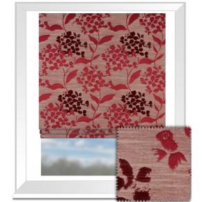Prestigious Textiles Eden Hydrangea Cranberry Roman Blind