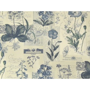 Novelty Wild Flower Denim Made to Measure Curtains