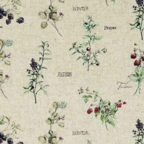 Clarke and Clarke Countryside WildBerries Linen Curtain Fabric