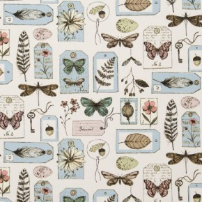 Clarke and Clarke Sketchbook Wildlife Mineral Curtain Fabric