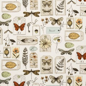 Clarke and Clarke Sketchbook Wildlife Multi Curtain Fabric