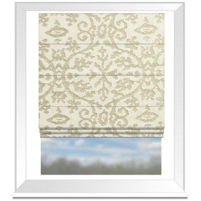 Clarke and Clarke Imperiale Ivory Roman Blind