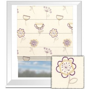 Clarke and Clarke Festival Jubilee Elderberry Roman Blind