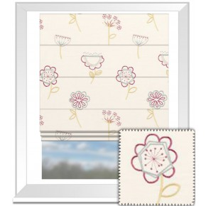 Clarke and Clarke Festival Jubilee Summer Roman Blind