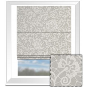 Clarke and Clarke Garden Party Lace Pebble Roman Blind