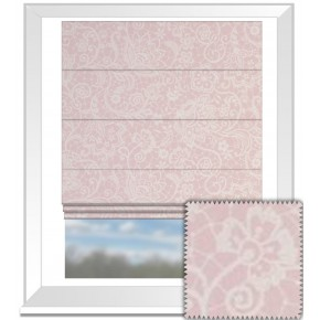 Clarke and Clarke Garden Party Lace Pink Roman Blind