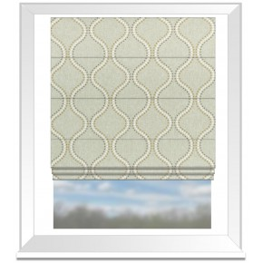 Clarke and Clarke Halcyon Layton Chartreuse Roman Blind