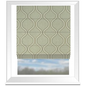 Clarke and Clarke Halcyon Layton Dove Roman Blind