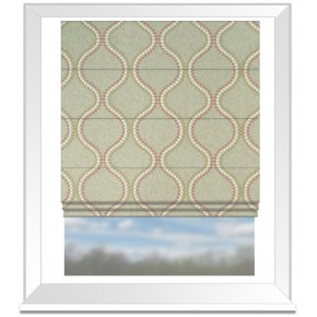 Clarke and Clarke Halcyon Layton Pink/Apple Roman Blind