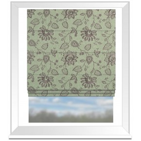 Clarke and Clarke Halcyon Liliana Heather Roman Blind