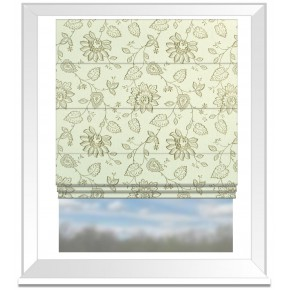 Clarke and Clarke Halcyon Liliana Linen Roman Blind
