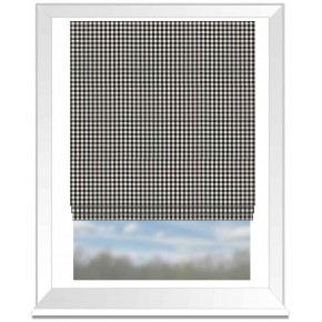Clarke and Clarke Glenmore Loch Charcoal Roman Blind