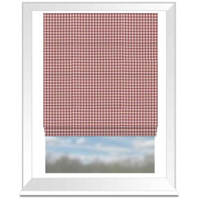 Clarke and Clarke Glenmore Loch Red Roman Blind