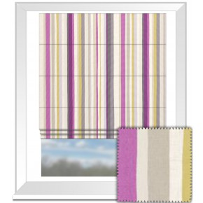 Clarke and Clarke La Vie Lounger Berry Roman Blind