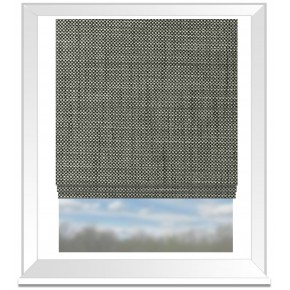 Clarke and Clarke Chateau Madeline Smoke Roman Blind
