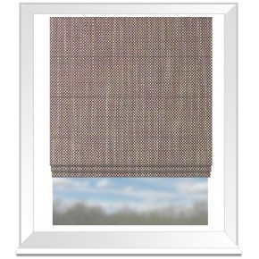 Clarke and Clarke Chateau Madeline Violet Roman Blind