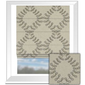 Clarke and Clarke Richmond Malham Taupe Roman Blind