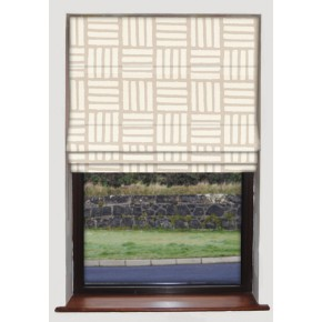 Clarke and Clarke Astrid Malva Natural Roman Blind